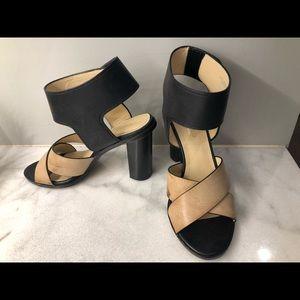 Charles David cream and black sandals, 6.5